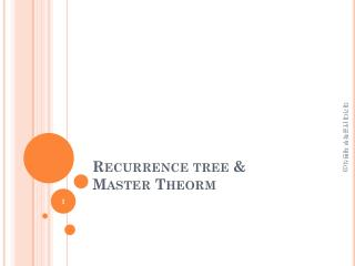 Recurrence tree & Master  Theorm