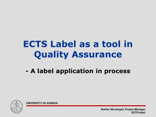 ECTS Label as a tool in Quality Assurance