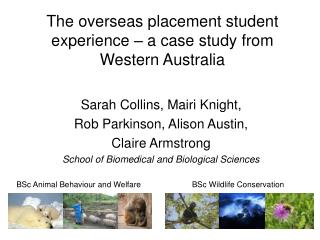 The overseas placement student experience – a case study from Western Australia