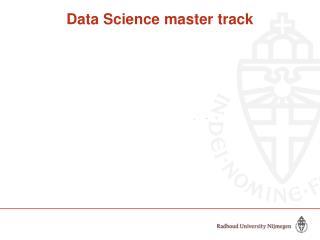 Data  S cience  master track