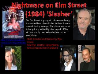 Nightmare on Elm Street (1984) ' Slasher '