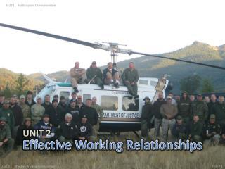 Effective Working Relationships