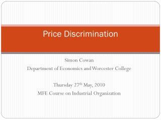 types of price discrimination pdf