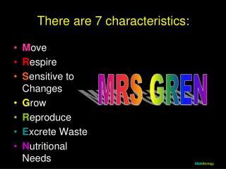 There are 7 characteristics: