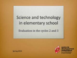 Science and technology in elementary school