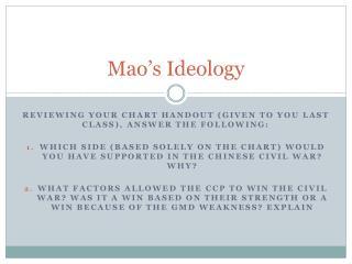 Mao's Ideology
