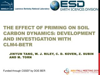The Effect of Priming on Soil Carbon Dynamics: Development  and  Investigation with  CLM4-BeTR