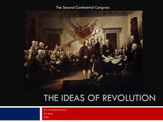 The Ideas of Revolution
