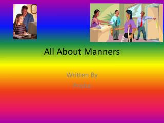 All About Manners