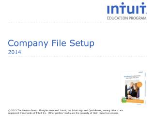 Company File  Setup