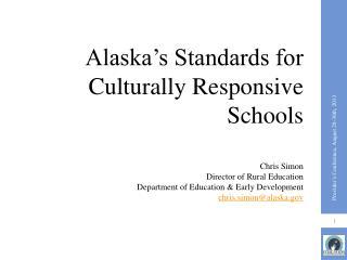 Alaska's Standards for Culturally Responsive Schools
