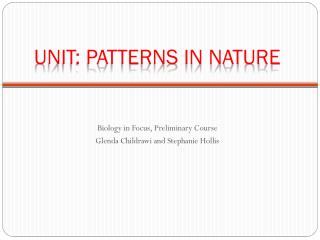 Unit: Patterns in Nature
