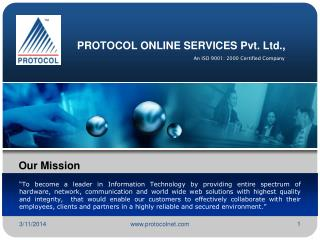 PROTOCOL ONLINE SERVICES Pvt. Ltd.,