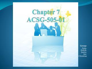 Chapter 7 ACSG-505-01