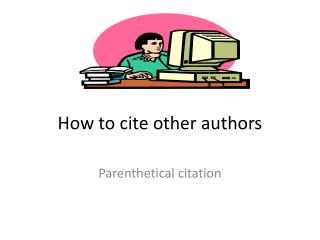 How to cite other authors