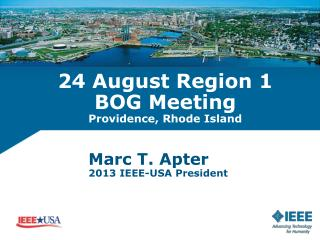 24 August Region  1 BOG  Meeting Providence, Rhode Island