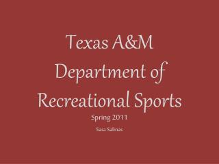 Texas A&M Department of Recreational Sports
