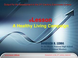 e Lesson A Healthy Living Campaign