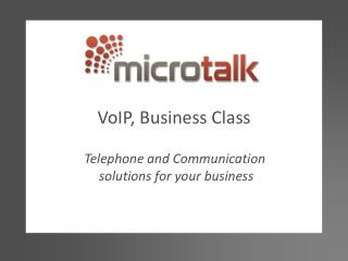 VoIP, Business Class