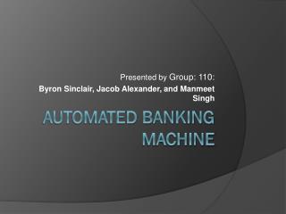 Automated banking machine
