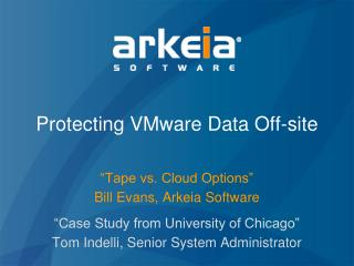 Protecting VMware Data Off-site