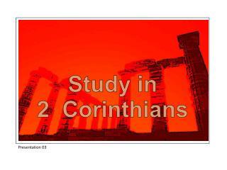 Study in 2  Corinthians