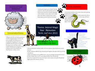 Theme: Animal Magic Year : Reception Term: Autumn 2013