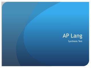 AP Lang