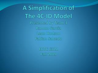 4C-ID Model Introduction