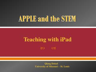 APPLE and the STEM
