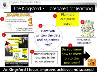 At Kingsford I focus,  improve,  achieve and succeed