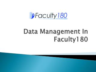Data Management In Faculty180