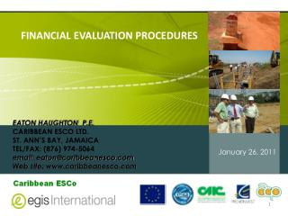 FINANCIAL EVALUATION PROCEDURES