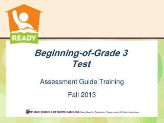Beginning-of-Grade 3  Test