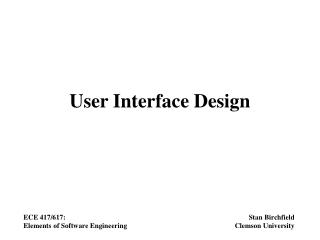Dialog Design: Windows, Icons, Menus and Pointers WIMP