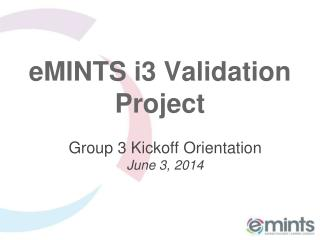 eMINTS i3 Validation Project