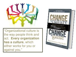 The Basic Premise from Connors and Smith: Every organization has a culture.