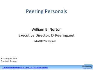 Peering Personals