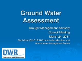 Ground Water Assessment