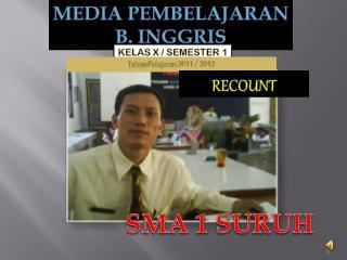 MEDIA PEMBELAJARAN  B. INGGRIS