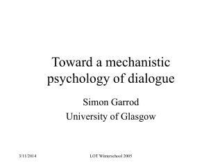 Toward a mechanistic psychology of dialogue