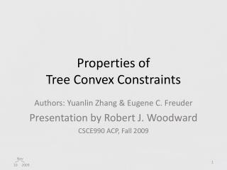 Properties of  Tree Convex Constraints