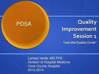 Quality  Improvement Session 1