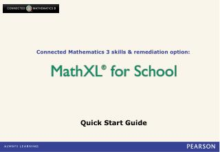 Connected Mathematics 3 skills & remediation option:
