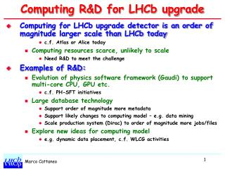 Computing R&D for LHCb upgrade