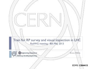 Train for RP survey and visual inspection in LHC RadWG  meeting - 8th  May 2013