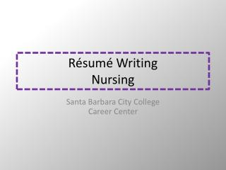 Résumé  Writing Nursing