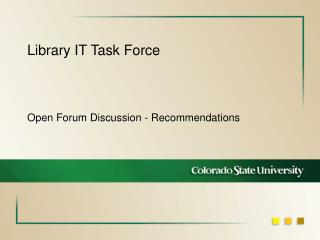 Library IT Task Force