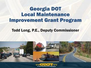 Georgia DOT  Local Maintenance Improvement Grant Program