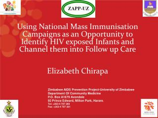 Zimbabwe AIDS Prevention Project- University of Zimbabwe Department Of Community Medicine